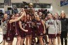 Benton Panthers Girls Varsity Basketball Winter 17-18 team photo.