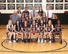Red Mountain Mountain Lions Girls Varsity Basketball Winter 17-18 team photo.