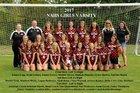 New Albany Bulldogs Girls Varsity Soccer Fall 17-18 team photo.