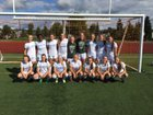 Hazen Highlanders Girls Varsity Soccer Fall 17-18 team photo.