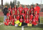 Franklin Pierce Cardinals Girls Varsity Soccer Fall 17-18 team photo.