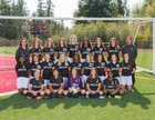 Kentlake Falcons Girls Varsity Soccer Fall 17-18 team photo.