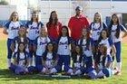 Los Alamitos Griffins Girls JV Softball Spring 16-17 team photo.