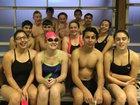 Highland Hornets Girls Varsity Swimming Winter 17-18 team photo.