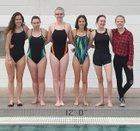 Desert Academy Wildcats Girls Varsity Swimming Winter 17-18 team photo.