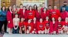 Magnolia Panthers Girls Varsity Swimming Winter 17-18 team photo.