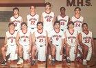 Memorial Mustangs Boys JV Basketball Winter 18-19 team photo.