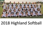 Highland Cougars Girls Varsity Softball Fall 18-19 team photo.