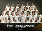 Cuthbertson Cavaliers Boys Varsity Lacrosse Spring 16-17 team photo.