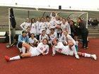 Victoria East Titans Girls Varsity Soccer Winter 17-18 team photo.