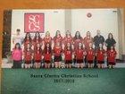 Santa Clarita Christian Cardinals Girls Varsity Soccer Winter 17-18 team photo.