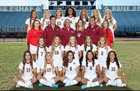 Perry Pumas Girls Varsity Soccer Winter 17-18 team photo.