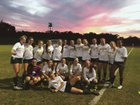 Melbourne Central Catholic Hustlers Girls Varsity Soccer Winter 17-18 team photo.