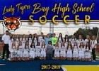Bay Tigers Girls Varsity Soccer Winter 17-18 team photo.