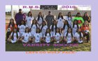 Ridgeview Wolf Pack Girls Varsity Soccer Winter 17-18 team photo.