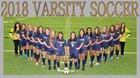 Lamar Vikings Girls Varsity Soccer Winter 17-18 team photo.