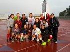 Golden Valley Cougars Girls Varsity Soccer Winter 17-18 team photo.