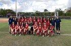 Florida Christian Patriots Girls Varsity Soccer Winter 17-18 team photo.