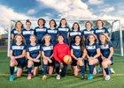 Oak Ridge Trojans Girls Varsity Soccer Winter 17-18 team photo.