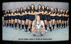 Ben Holt College Prep Academy Bobcats Girls Varsity Soccer Winter 17-18 team photo.
