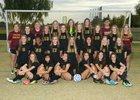 Mountain Pointe Pride Girls Varsity Soccer Winter 17-18 team photo.