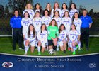 Christian Brothers Falcons Girls Varsity Soccer Winter 17-18 team photo.