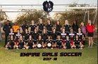 Empire Ravens Girls Varsity Soccer Winter 17-18 team photo.