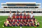 Tompkins Falcons Girls Varsity Soccer Winter 17-18 team photo.