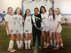 Dobson Mustangs Girls Varsity Soccer Winter 17-18 team photo.