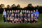 Pearl River Central Blue Devils Girls Varsity Soccer Winter 17-18 team photo.