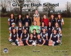 Gridley Bulldogs Girls Varsity Soccer Winter 17-18 team photo.