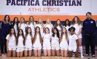 Pacifica Christian/Orange County Tritons Girls Varsity Soccer Winter 17-18 team photo.