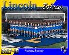 Lincoln Fighting Zebras Girls Varsity Soccer Winter 17-18 team photo.