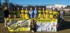 Starkville Yellowjackets Girls Varsity Soccer Winter 17-18 team photo.