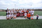 Florence Eagles Girls Varsity Soccer Winter 17-18 team photo.