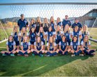 San Marcos Knights Girls Varsity Soccer Winter 17-18 team photo.
