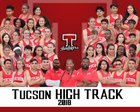 Tucson High Magnet School Badgers Boys Varsity Track & Field Spring 17-18 team photo.