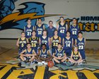 Leland Chargers Boys JV Basketball Winter 16-17 team photo.