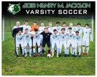 Jackson Timberwolves Boys Varsity Soccer Spring 17-18 team photo.