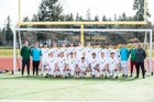 Redmond Mustangs Boys Varsity Soccer Spring 17-18 team photo.