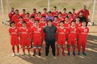 Green Forest Tigers Boys Varsity Soccer Spring 17-18 team photo.