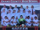 Grand County Red Devils Boys Varsity Soccer Spring 17-18 team photo.