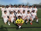 Malvern Leopards Boys Varsity Soccer Spring 17-18 team photo.