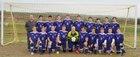 St. Joseph Bulldogs Boys Varsity Soccer Spring 17-18 team photo.