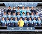 Southside Christian Sabres Boys Varsity Soccer Spring 17-18 team photo.