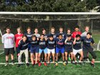 Kennedy Catholic Lancers Boys Varsity Soccer Spring 17-18 team photo.