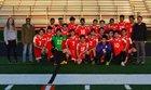 Lisa Academy Jaguars Boys Varsity Soccer Spring 17-18 team photo.