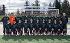 Kentwood Conquerors Boys Varsity Soccer Spring 17-18 team photo.
