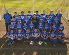 Decatur Bulldogs Boys Varsity Soccer Spring 17-18 team photo.
