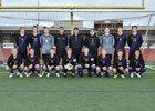 Sumner Spartans Boys Varsity Soccer Spring 17-18 team photo.